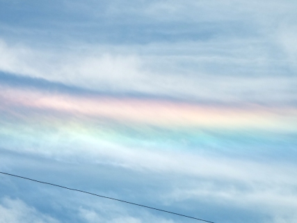 Iridescent cloud over Melbourne, FL