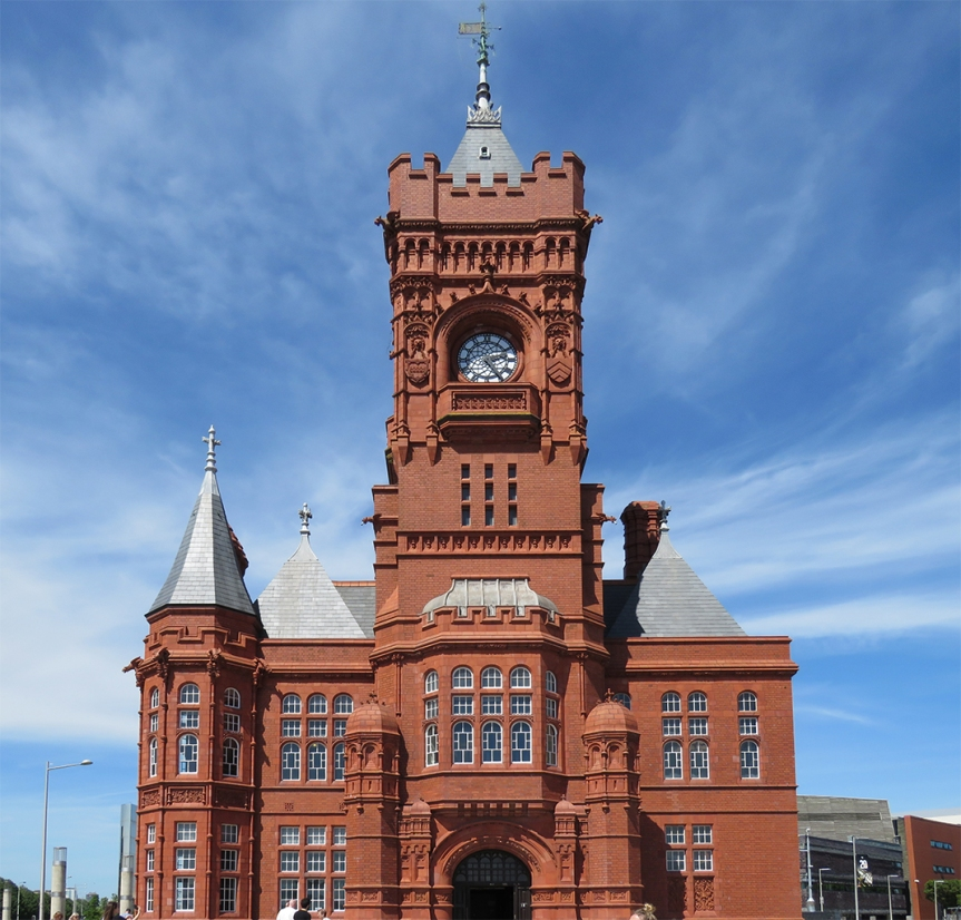 The Pierhead Building in Cardiff.