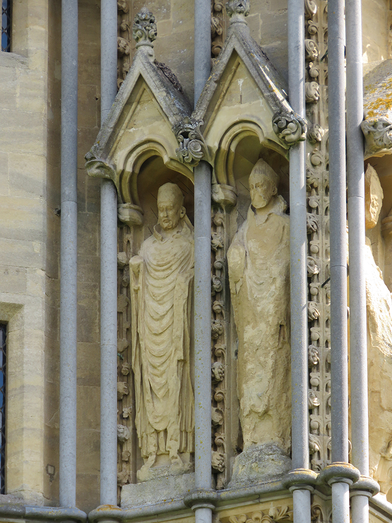 Statues in decorated alcoves