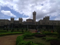 Bangalore Palace was built by the British for the Mysore Royal Family in a Tutor revival style.