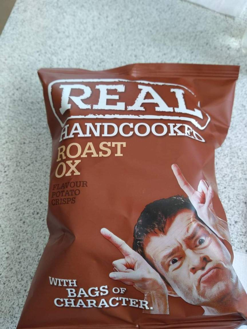 A bag of roast ox crisps